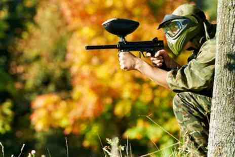 Skirmish Paintball Bristol - Full Day Paintball Session for 10 or 20 Players and 100 Balls Per Person - Save 92%