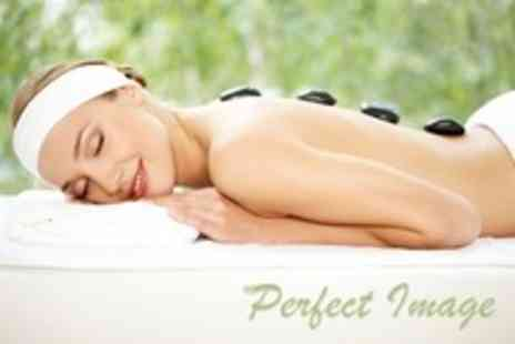 Perfect Image - Pamper Package Dermalogica Facial With Hot Stone Massage Plus Manicure or Pedicure - Save 69%