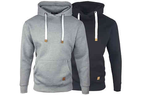 Blu Apparel - Mens Warren OH Hoodie Choose from 2 Colours & 5 Sizes - Save 60%