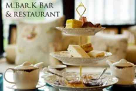 M.Bar.K Bar and Restaurant - Afternoon Tea With a Twist For Two People - Save 43%