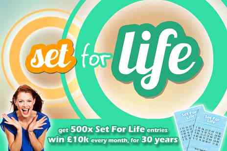 You Play We Play - 500 Lotto Set For Life Lines - Save 70%