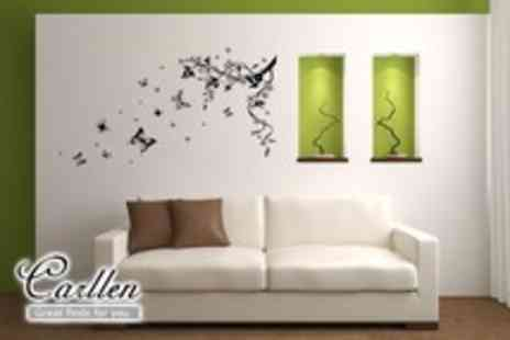 Carllen - Set of wall art stickers in a choice of designs - Save 60%