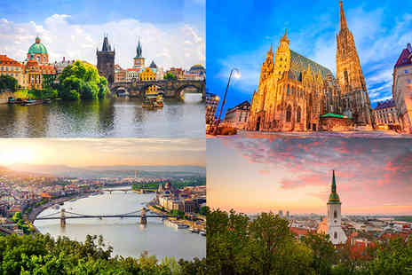 Great Pacific Travels - Eight nights Prague, Vienna, Bratislava, and Budapest multi city break with return flights - Save 37%