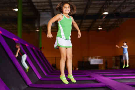 GEORDIELAND - One hour trampoline session with 30 minute soft play access for one - Save 33%