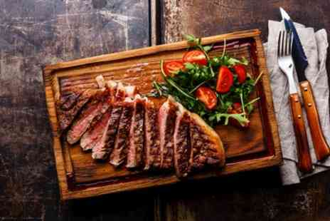 Leigh Bistro - 8oz Sirloin Steak with Salad, Chips and Peppercorn Sauce for One or Two - Save 37%