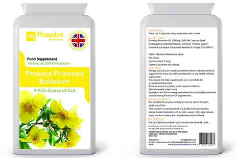 Prowise Healthcare - 3 Month Supply of Prowise Evening Primrose Oil 1000mg 90 Capsules - Save 80%