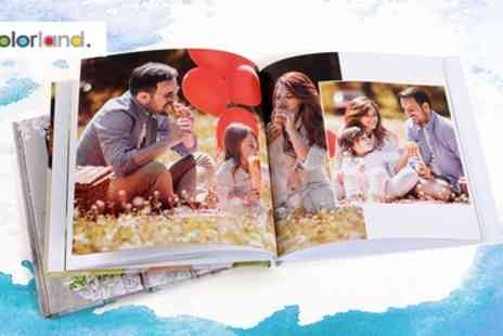 Colorland - One or Two Personalised Square Hardcover Photobooks with Up to 80 Pages - Save 80%