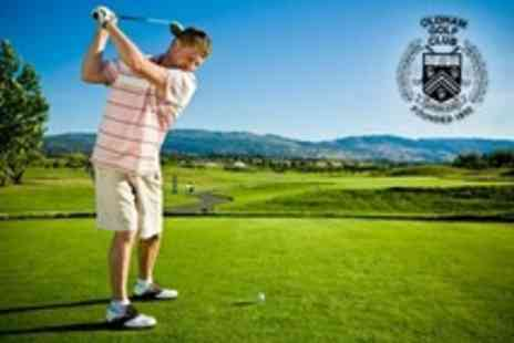 Oldham Golf Club - 18 Holes of Golf For Two With Bacon Roll and Hot Drink Each - Save 65%