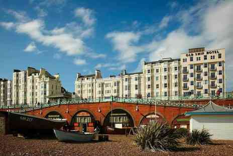 The Old Ship Hotel - Overnight Brighton break for two people with breakfast, three course dinner, bottle of wine and late check out - Save 47%