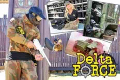 Delta Force Paintball - Paintballing For One With 100 Paintballs Each - Save 78%