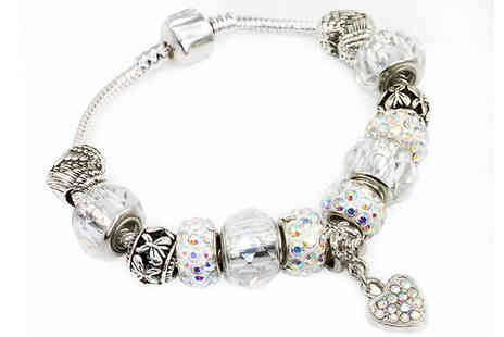 Victorias Candy - 1 or 2 Swarovski Crystal Love Charm Bracelets choose from 3 Designs - Save 70%