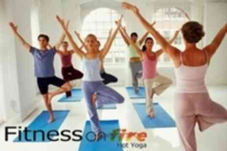 Fitness on Fire - TEN 1 hour HOT Yoga Classes - Save 61%