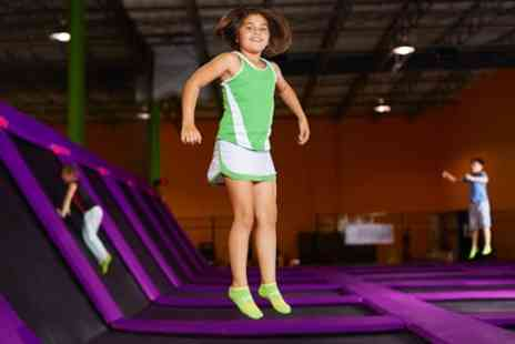 Mister Twisters Jump Centre - 60 Minute Trampoline Time with 30 Minute Soft Play for One or Two - Save 33%