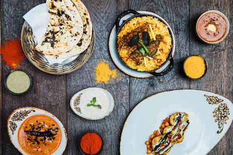 Ashas Restaurant - Two course Indian dining for two people with a choice of wine, beer or cocktail each - Save 67%