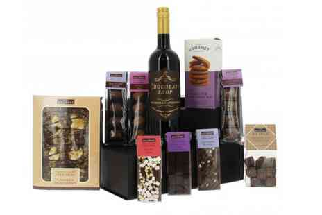 First4Hampers - Luxury chocolate hamper including wine, chocolate covered butter fudge, chocolate chip cookies - Save 53%