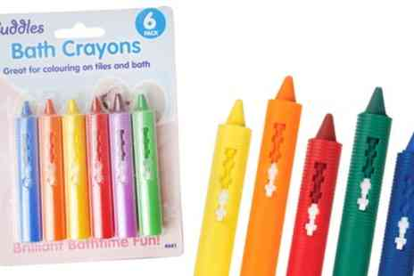 Groupon Goods Global GmbH - One Pack of Six Non Toxic Baby Bathroom Crayons - Save 0%