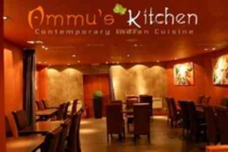 Ammus Kitchen - Indian Meal For Two With Glass of Wine and Rice or Naan Each - Save 56%