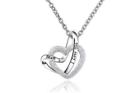Your Ideal Gift - I love you mum heart pendant necklace - Save 0%