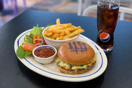 The Destination - Burger, fries and drink for two - Save 47%