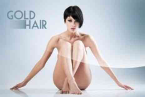 Gold Hair - Hollywood or Brazilian Wax Plus Underarm Wax  - Save 0%