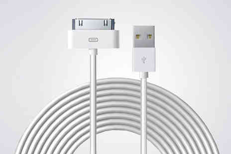 Gizmo Gadgets - 10ft USB Charging Cable For iPhone 4, 5, 6, 6S, 7 - Save 75%
