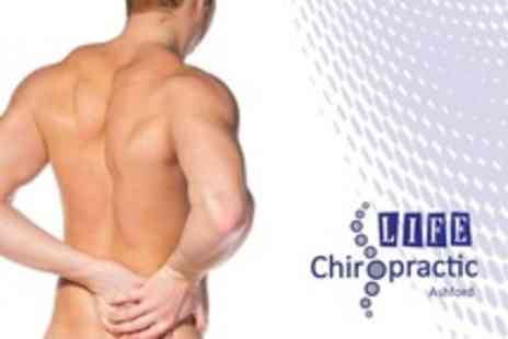 Life Chiropractic - Back and Neck Consultation With Report of Findings and Treatment Session at Life Chiropractic - Save 68%