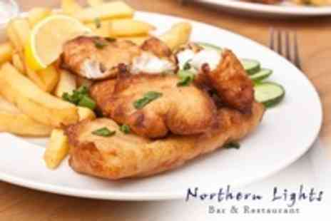 Northern Lights Bar - Fish and Chips For Two Adults and Two Children - Save 0%