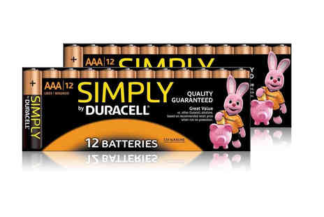 Avant Garde - Pack of 12 AA or AAA Duracell Simply batteries - Save 0%
