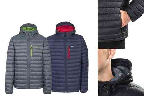 G5 Apparel - Mens Trespass Digby packaway down jacket in navy or charcoal choose from sizes S To XX - Save 0%
