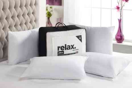 Groupon Good - Relax Four Pack of Pillows - Save 82%