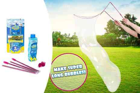 Vivo Technologies -Two pack of pink and a blue gigantic bubble makers - Save 65%
