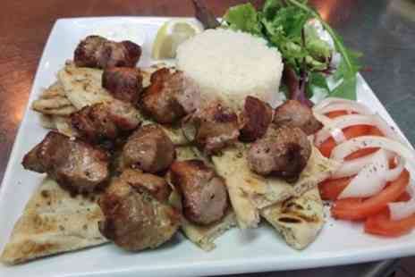 Islands Greek Restaurant - Greek Main with Dessert or Wine or Drink for Two or Four  - Save 26%