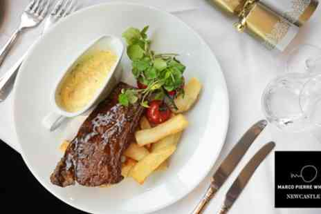 Marco Pierre White Steakhouse Bar & Grill - Three Course Lunch and Cocktail for Two - Save 60%