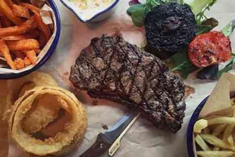 Longhorns Barbeque Smokehouse - Steak with Side and Drink for Two or Four - Save 51%