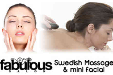 Fabulous Salon - Full body Swedish massage plus a mini facial - Save 71%