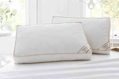 Groupon Goods Global GmbH - Two, Four or Eight Hotel Quality Duck Feather Pillows - Save 10%