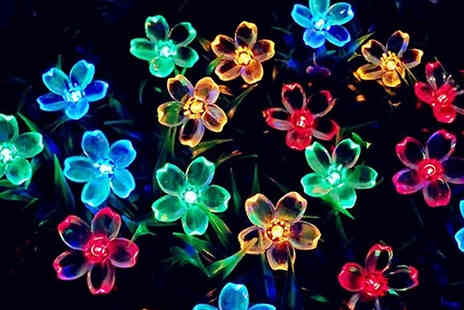 EClife Style - 7m Flower Fairy Lights choose from 2 Colours - Save 60%
