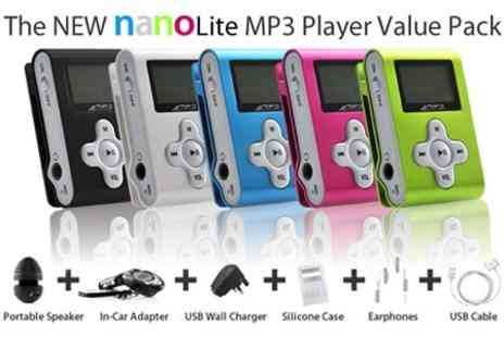 nanolite.co.uk - 4GB MP3 Player with Portable Speakers and Car Adaptor - Save 64%