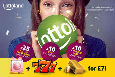 Lottoland - 25 PiggyBank scratchcards try your luck - Save 67%
