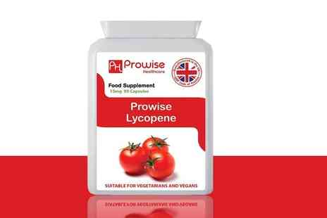 Prowise Healthcare - Three month supply of lycopene capsules - Save 73%