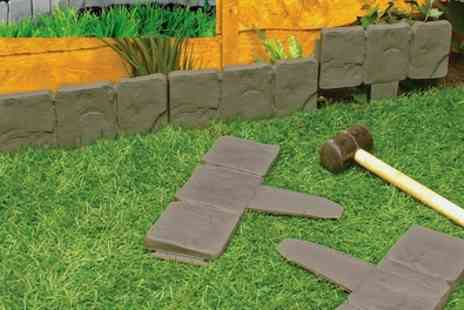 Groupon Goods Global GmbH - 10 or 20 Piece Cobble Stone Effect Garden Edging Set - Save 62%