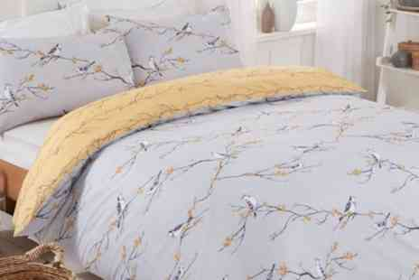 Groupon Good - Bloom and Sparrows Reversible Duvet Set - Save 75%