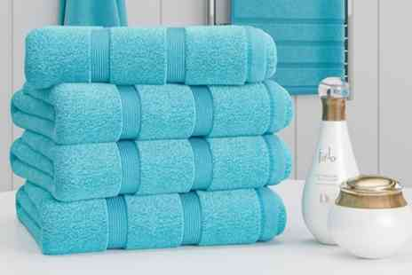 Groupon Good - Dickens 600gsm Egyptian Cotton 4 Piece Hand Towel Bale - Save 46%