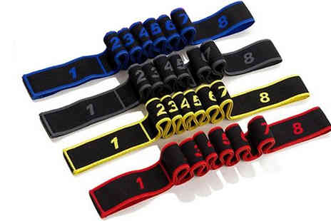 CN Direct Biz - 1 or 5 Pack of 8 Loop Resistance Bands Choose from 4 Colours - Save 80%