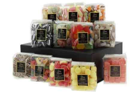 First4Hampers - Traditional sweet hamper including wine gums fizzy cola bottles lemon bon bons and more - Save 53%