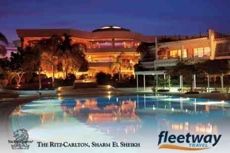 The Ritz-Carlton, Sharm El Sheikh - Egyptian Getaway For Five Nights with Meals at the 5* Ritz Carlton Hotel including direct Return Flights from Heathrow - Save 50%