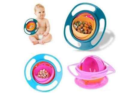 hey4beauty - 360 degree rotating spill proof baby bowl - Save 75%
