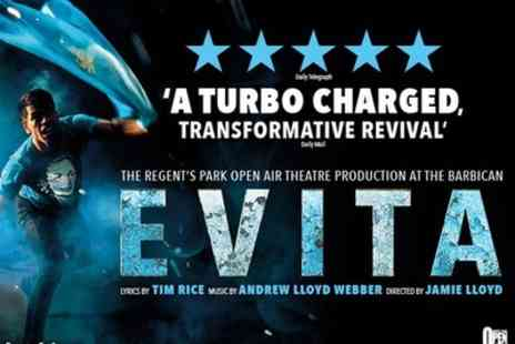 Barbican - Tickets to see Evita - Save 0%