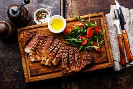 5 Cavell St Kitchen & Bar - Rib Eye Steak with Wine, Chips and Salad for Up to Four - Save 41%