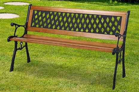 Groundlevel - Venice three seater garden bench - Save 61%